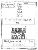 9-My Community Tracing Worksheets. Preschool-Kindergarten.