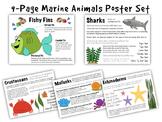 9-Page Marine Animal Poster Set