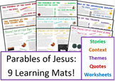 9 Parables of Jesus Information Sheets and Question Sheets