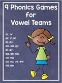 9 Phonics Games vowel teams