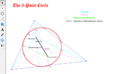 9 Point Circle via Geometer's Sketchpad