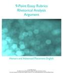 9-Point Essay Rubrics: Rhetorical Analysis & Argument
