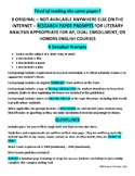9 RESEARCH ESSAY Prompts on Literature for AP Dual Enrollment or Honors English