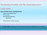 9. Roaring Twenties and Great Depression - Lesson 3 of 6 - Stock Market Crash