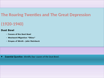 9. Roaring Twenties and Great Depression - Lesson 4 of 6 -