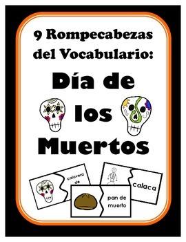 9 Rompecabezas del Vocabulario: Dia de los Muertos