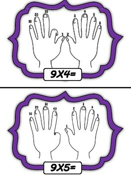 9'S MULTIPLICATION HAND TRICK