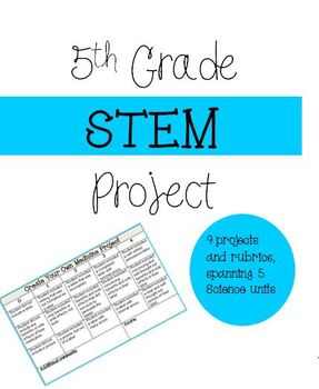 9 Science Projects/Rubrics (STEAM and Integration)