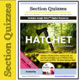 9 Section Quizzes & 9 Crossword Puzzles: Hatchet by G. Paulsen  (Print+DIGITAL)