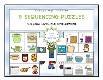 9 Sequencing Puzzles {3 To 6 Steps} Oral Narration, Speech Fluency
