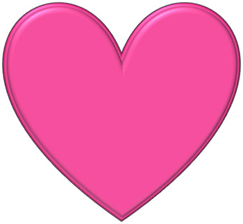 9 Shades of Pink 3-D Hearts