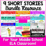 9 Short Stories Bundle for Middle School ELA