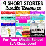 Short Story Unit - 9 Short Stories Bundle for Middle School ELA