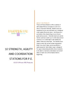 9 Simple P.E. Strength, Agility & Coordination Fitness Stations