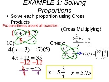 9) Solving Proportions (with Percents Review) Complete PPT Lesson