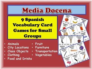 9 Spanish Vocabulary Activities for Small Groups (Half Dozen, Media Docena)