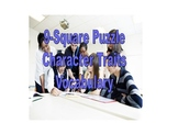 9-Square Puzzle for Character Traits Vocabulary