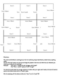 9 Square Vocabulary Puzzle Template