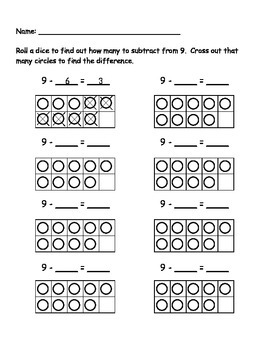 9 Subtraction Roll