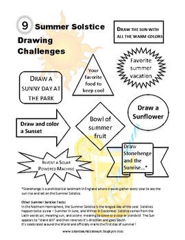 9 Summer Solstice Drawing Challenges