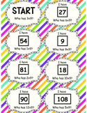 9 Times Table 'I have Who has' Cards