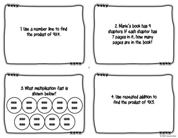 9 Times Table Task Cards