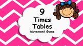 Multiplication 9 Times Tables Game / Brain Break