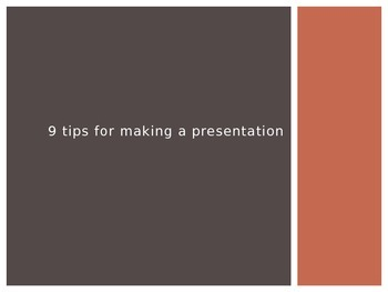 9 Tips for Making a Presentation PowerPoint