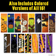 15 Printable Halloween Bookmarks, Colorable, with Colored Versions Included