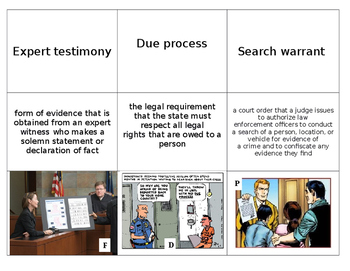 9 Vocabulary Activity Legal Systems for Forensics