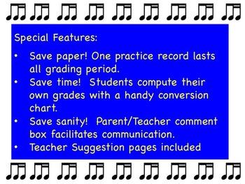9- Week Editable Practice Record (Intermediate/Advanced)