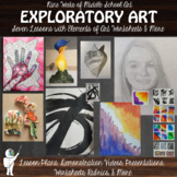 *9 Week Exploratory Art - Intro to Middle School Art - 6 Lessons in 9 Weeks