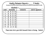 9 Weeks Weekly Behavior Report
