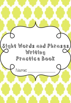 9 Weeks of Sight Words Writing Practice for Beginners