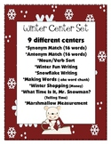 9 Winter Centers Set