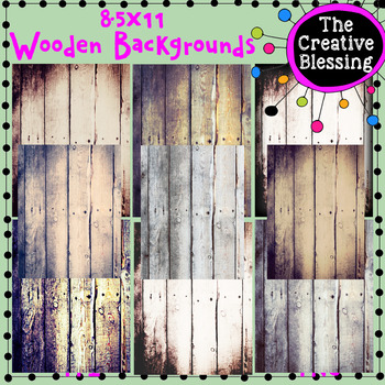 8.5x11  Wooden Backgrounds