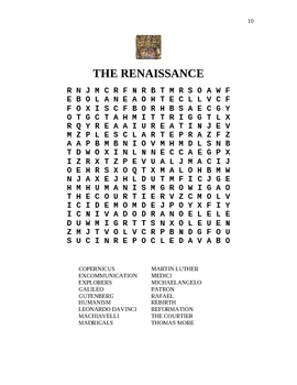 9 Word Searches on World History and Culture (Not just fun!)