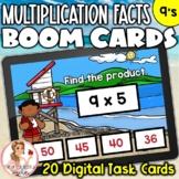 9's Multiplication Facts BOOM Cards | Digital Task Cards