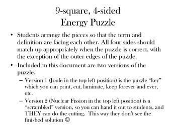 9-square 4-sided forms of energy puzzle