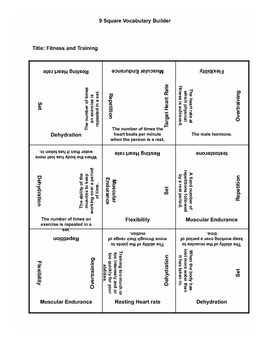 9 square- Fitness and Training