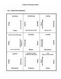 9 square activity- Computer Hardware