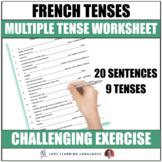 French Verbs - Multiple Tenses - Worksheet or Quiz