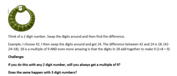 9 times table investigations