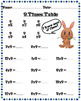 9 times table worksheets