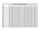 9-week Attendance Sheet (editable)