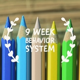 9 week Behavior Sheet for Daily Folders