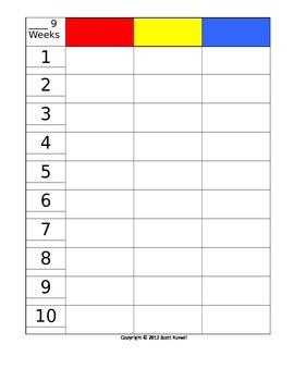 9 week planning grid 3 grades/columns - editable