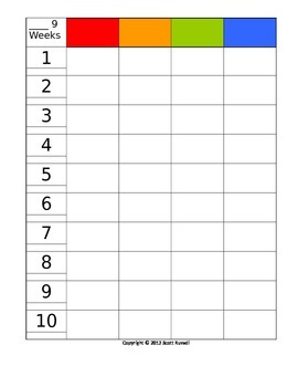 9 week planning grid 4 grades/columns - editable