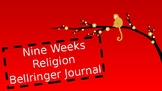 9 weeks Religion Bellringer Journal
