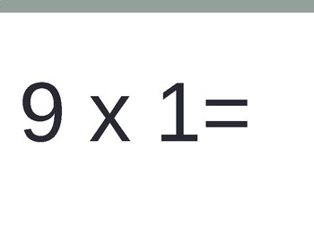 9 x Multiplication Flash Cards ppt